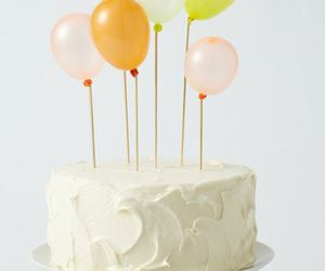 cake, balloons, and birthday image