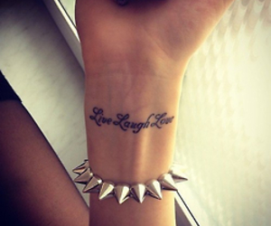 tattoo, live, and laugh image