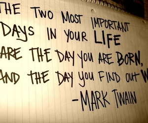 quote, life, and mark twain image