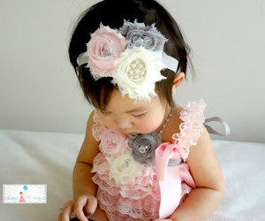 baby, dress, and flower image