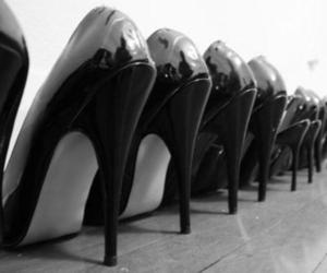 shoes, black, and high heels image
