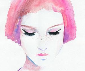 aquarell, girl, and illustration image