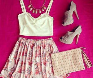 skirt, shoes, and style image