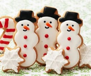 snowman, christmas, and Cookies image