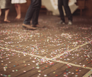 confetti, floor, and party image