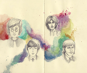 beatles, drawing, and the beatles image