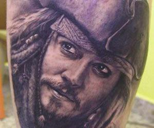 body art, jack sparrow, and tattoo image
