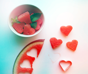 watermelon, heart, and cute image