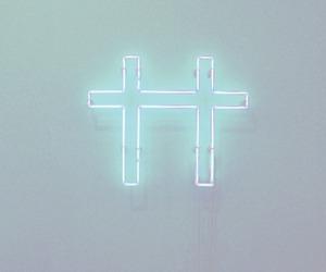 cross, light, and grunge image