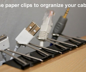 cables, life hack, and organisation image