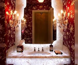 bathroom, decor, and fancy image