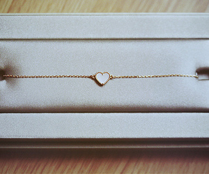 necklace, gold, and heart image