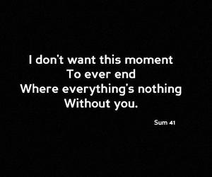 nothing, sum 41, and quote image