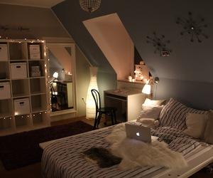 room, blue, and christmas image