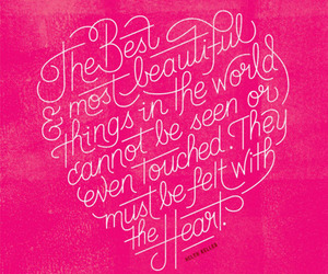 quotes, heart, and pink image