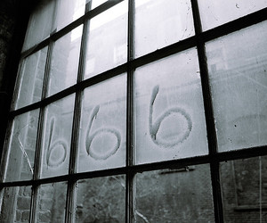 666, beast, and number image
