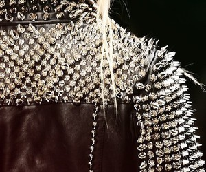 jacket, leather, and spikes image