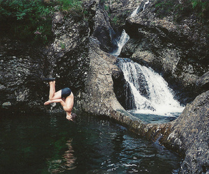 boy, water, and jump image