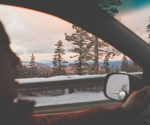 car, nature, and snow image