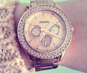 watch, fossil, and fashion image