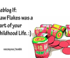 sweets, childhood, and hawflakes image