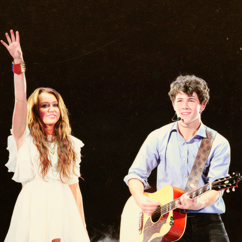 miley cyrus, niley, and nick jonas image