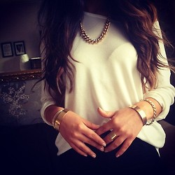 brunette, fashion, and gold image