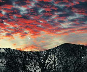 clouds, colors, and red image
