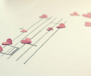 music, heart, and hearts image