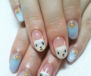casual, nail art, and outfit image