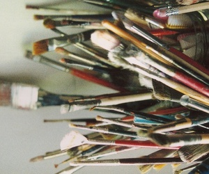 Brushes, art, and paint image