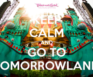 Tomorrowland, keep calm, and party image