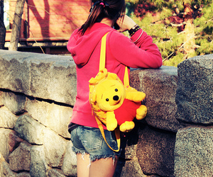 girl, pooh, and pretty image