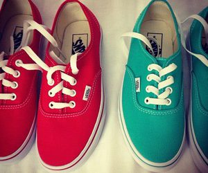vans, red, and style image