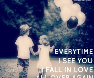 love, balloons, and quotes image