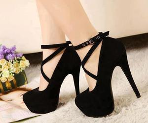 black, boats, and heels image