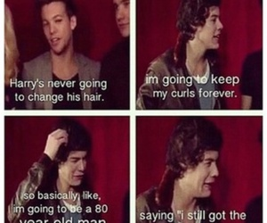 funny, louis tomlinson, and Harry Styles image