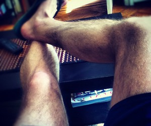 feet, hairy, and hairy legs image