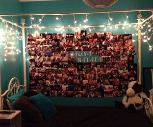 lights, pictures, and teal image