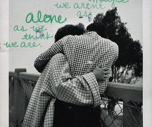 alone, couple, and text image