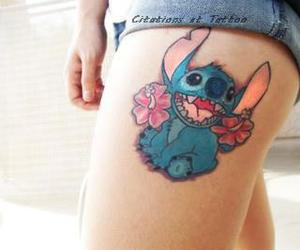 stitch, girl, and tattoo image