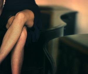 bokeh, stockings, and fishnets image