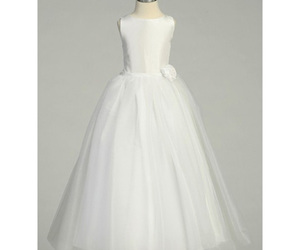cute flower girl dresses, cheap flower girl dresses, and ivory flower girl dresses image
