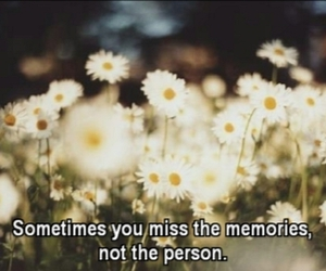 memories, quote, and flowers image