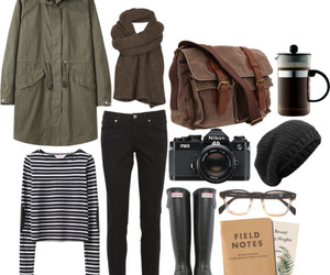 fashion, outfit, and parka image