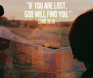 god, lost, and bible image