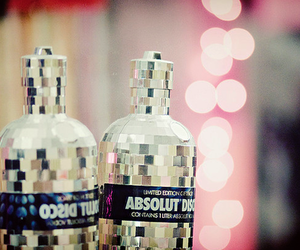 disco, absolut, and bottle image