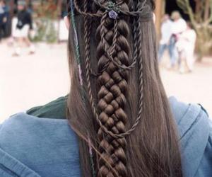 hair, braid, and medieval image