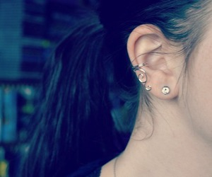 ear, earring, and girl image
