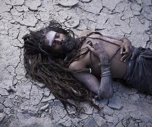beard, india, and sadhu image